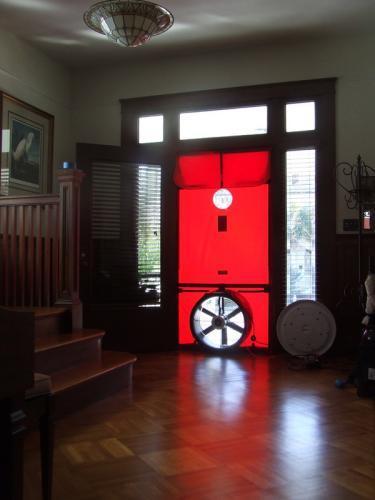 Blower Door Test Setup