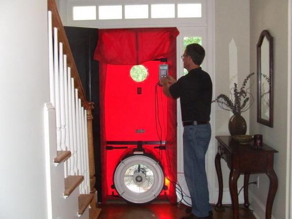 Front door blower test with Chris
