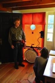 Blower Door testing in progress