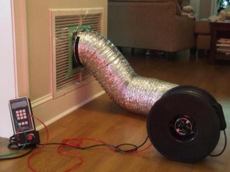 Duct Blaster Test Setup