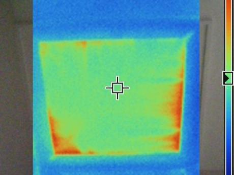 Infrared Image of Hot Spots in Duct